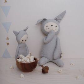 Rattle soft Bunny - light grey