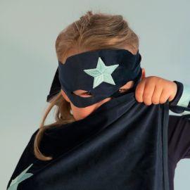 Superhero velvet hero costume set - Night blue