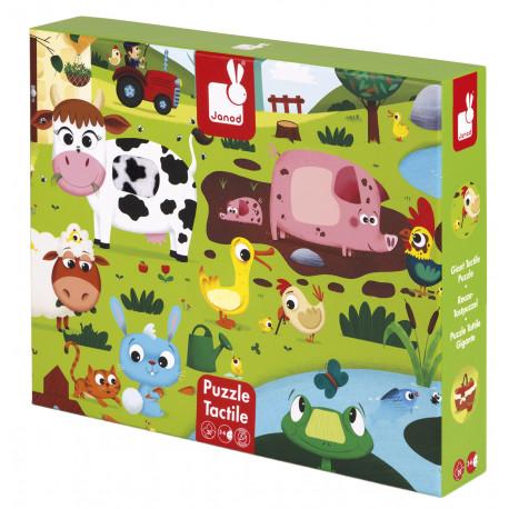 tactile puzzle - farm animals